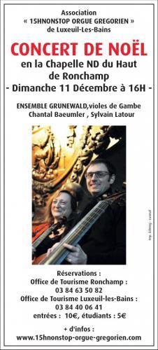 Concert de Noël : Ensemble Grünewald