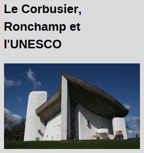 """Visite thématique """"Le Corbusier, Ronchamp et l"""