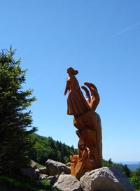 Plancher les Mines statue à la Planche des Belles Filles